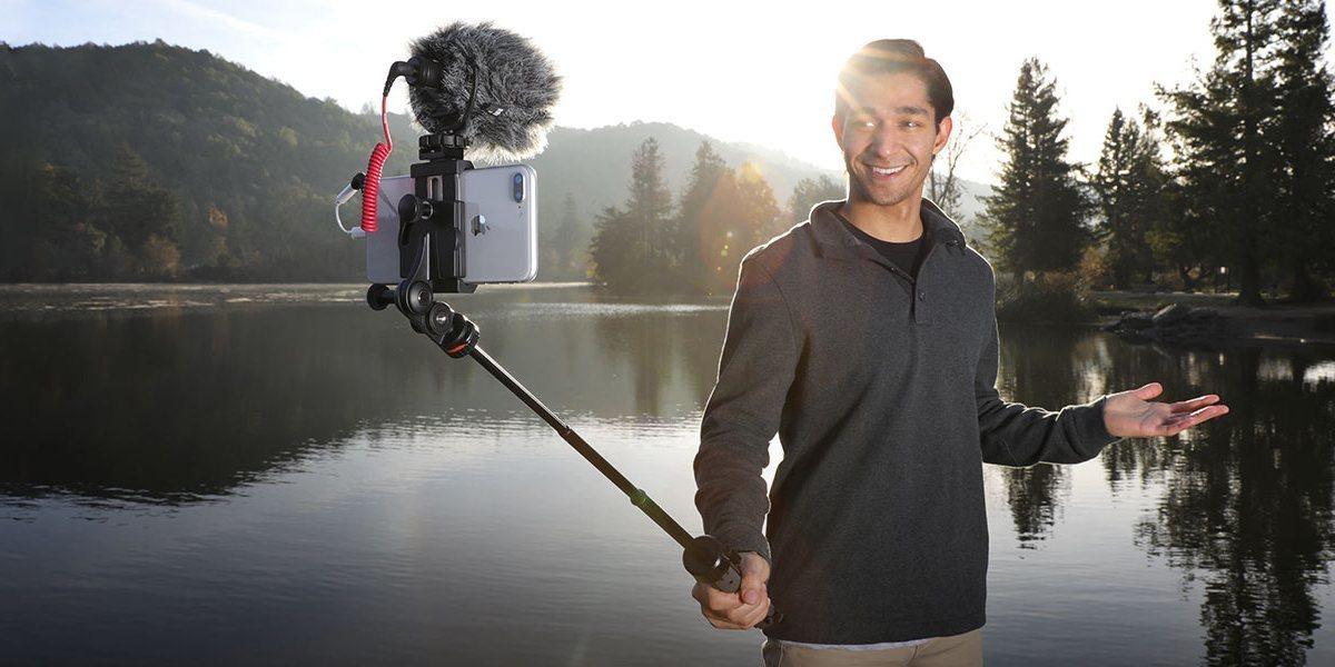Монопод-штатив Joby GripTight PRO TelePod пример использования