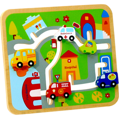 ToysLab Деревянный лабиринт «Транспорт» (71013)