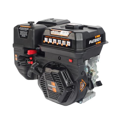 Двигатель PATRIOT SR 210; Мощность 7,0 л.с.; 212см³; 3600об/мин; бак 3,6л.; хвостовик 19,05мм, шпонка; повышенный ресурс; вес 16 кг.
