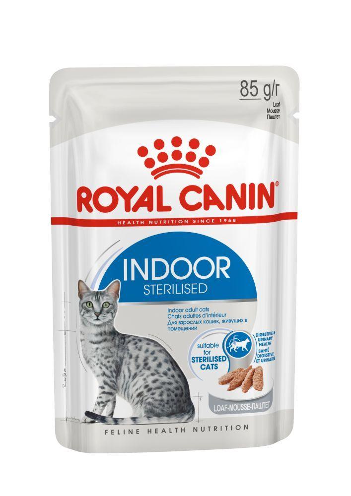 До 200 ₽ Пауч для кошек Royal Canin INDOOR STERILISED LOAF в паштете Индор__паштет__3.jpg