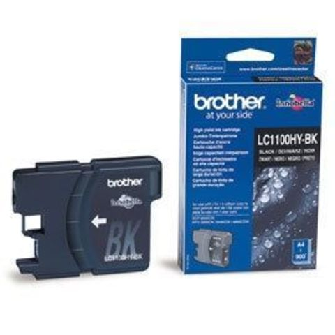 Brother LC1100HYBK черный картридж увеличенной емкости. Ресурс 900 стр.  Для DCP-6690CW