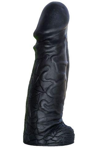 Чёрный фаллоимитатор-гигант DESPOT - 28 см.