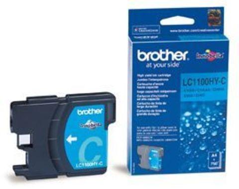 Brother LC1100HYC голубой картридж увеличенной емкости. Ресурс 750 стр.  Для DCP-6690CW