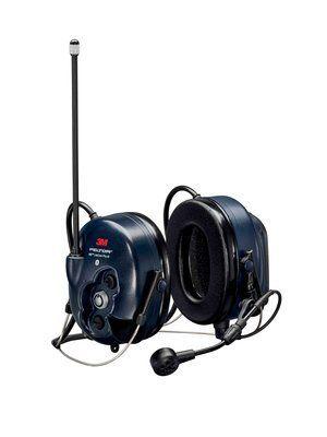 Активные наушники WS LiteCom, микрофон на жёсткой штанге, затылочное оголовье, Bluetooth, тёмно-синие чашки