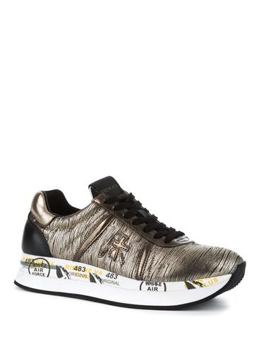 Кожаные кроссовки Premiata Conny 2973 с отделкой золотом