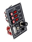 Панель переключателей (3 шт), с предохранителями, прикуривателем, зарядом батарей
