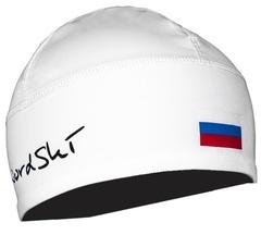 Лыжная шапка с флагом NordSki NSV114001 белая | Интернет-магазин Five-sport.ru