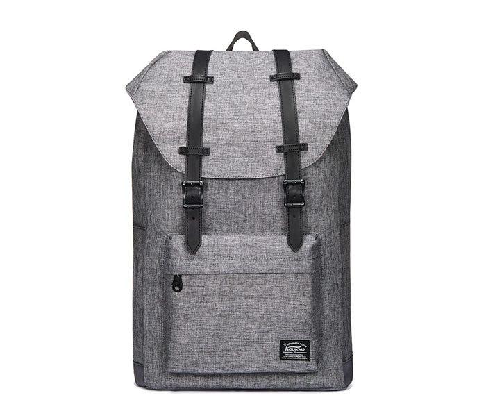 BAG404-3 Стильный мужской городской рюкзак из ткани серого цвета фото 11