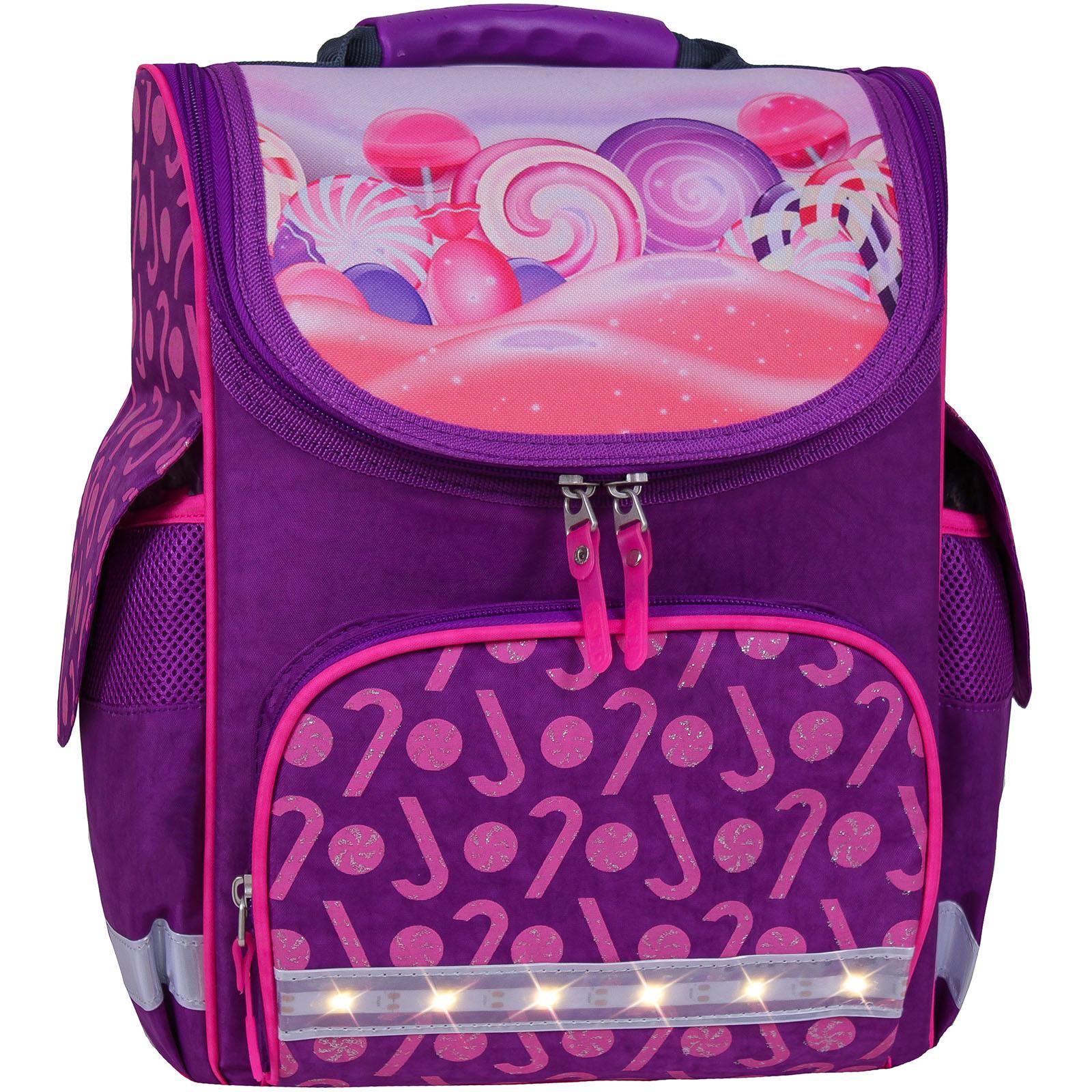 Шкільні ранці Рюкзак школьный каркасный с фонариками Bagland Успех 12 л. фиолетовый 409 (00551703) IMG_7148_блеск__409_.jpg