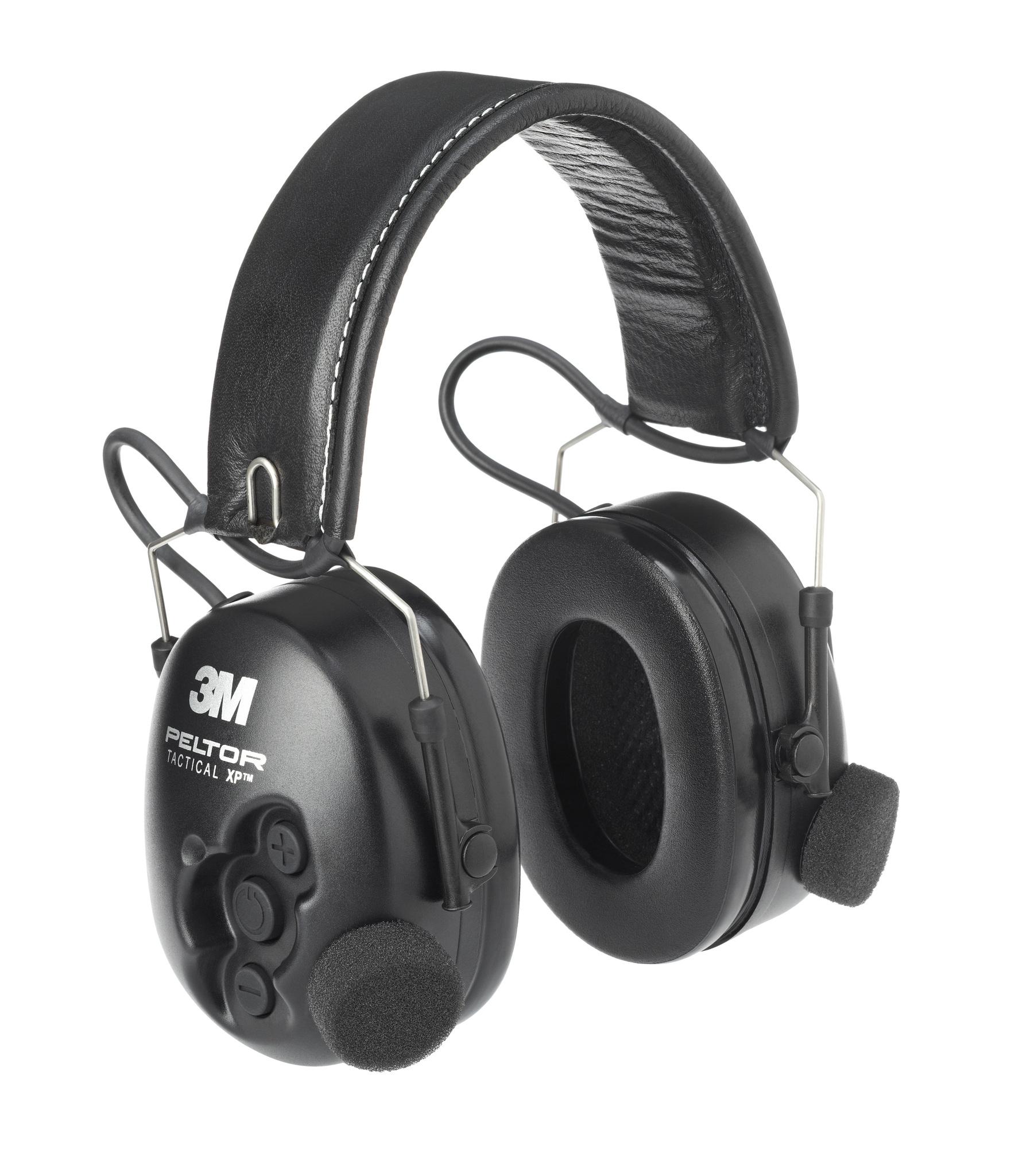 Активные наушники Tactical XP, без микрофона, складное оголовье, чёрные чашки