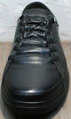 Кожаные кеды кроссовки мужские осенние Novelty 5235 Black