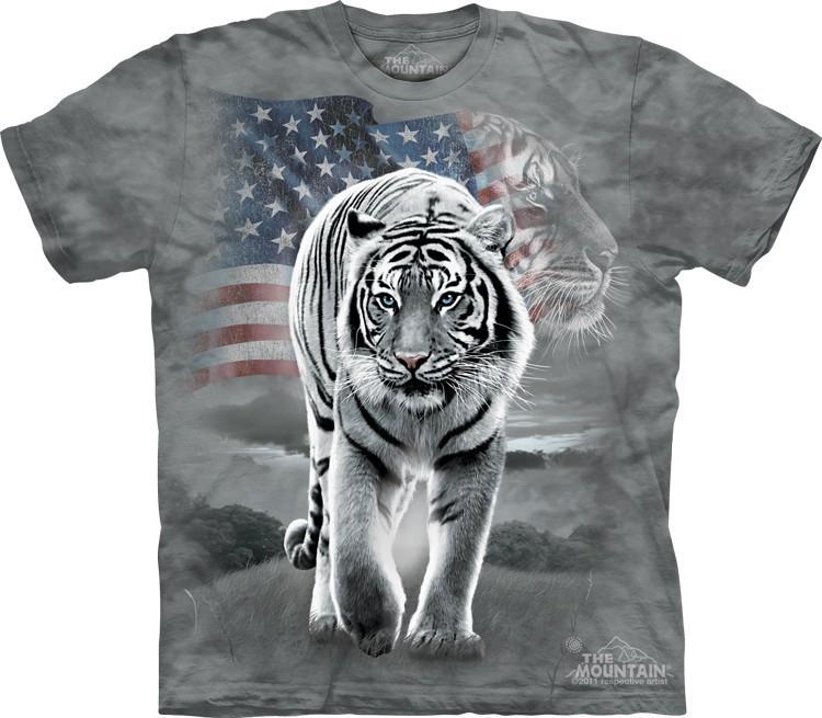 Футболка Mountain с изображением тигра патриота - Patriotic Tiger