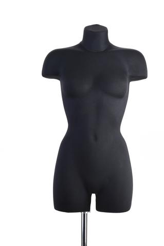 Демонстрационный женский манекен 42-44 размер (черный)