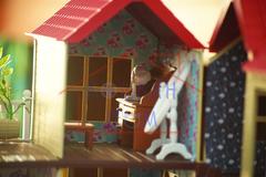 Домик зайчиков-молодоженов Happy family 012-10 с полным комплектом мебели