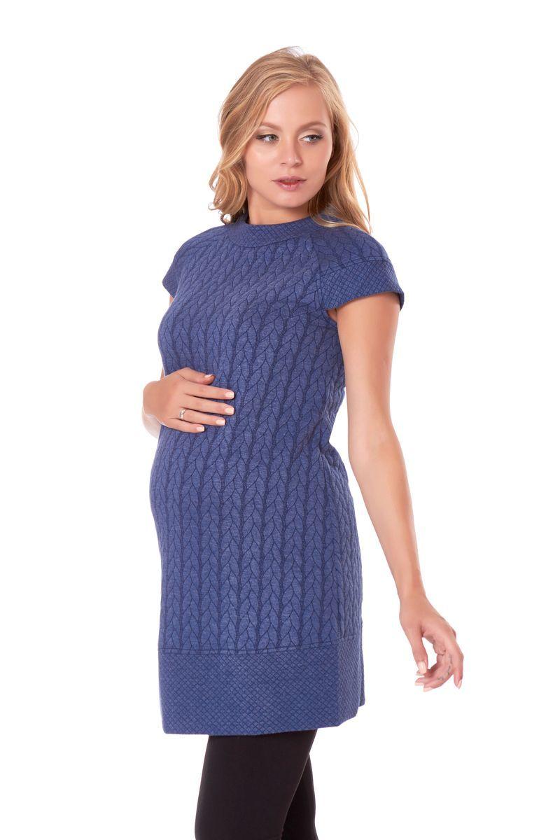 Платье для беременных 07461 синий