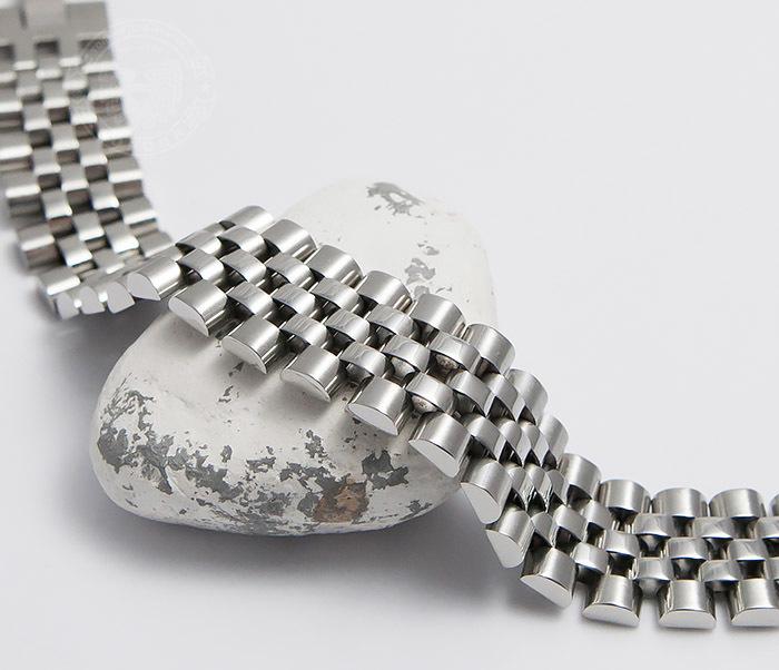 BM466 Широкий мужской браслет из стали на застежке (19 см)