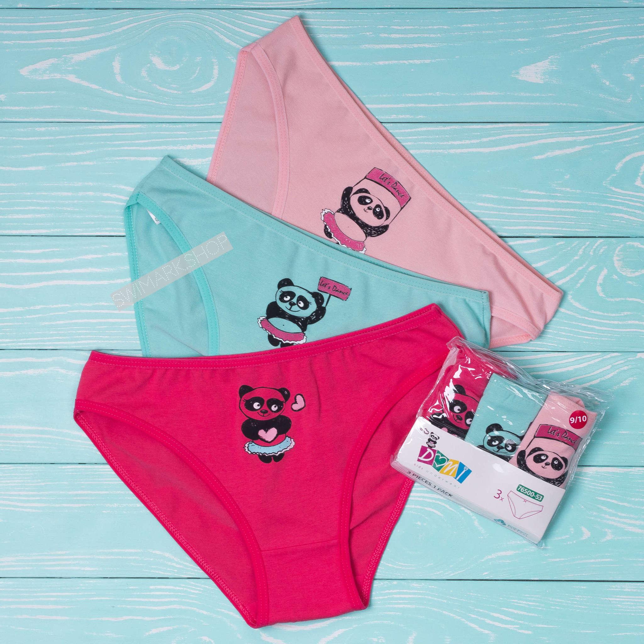Трусы для девочек Трусики детские DOMI 76500-53, 3 шт. в упаковке PA040396.jpg