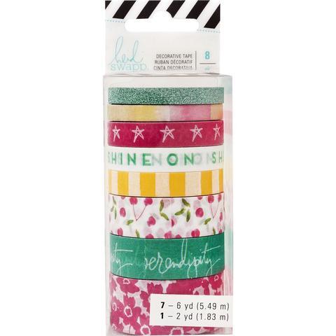 Скотчи декоративные -Heidi Swapp Memory Planner Washi-Shine On-8шт.