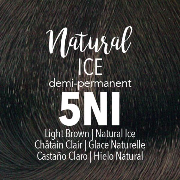 5NI полу-перманентный краситель mydentity | светлый шатен натуральный ледяной
