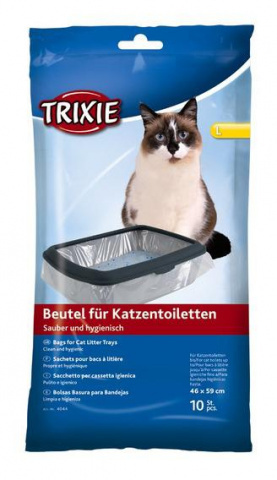 Trixie пакеты уборочные для кошачьих туалетов L 46 см x 59 см х 10 шт