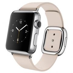 Часы смарт Apple Watch 38мм (бледно-розовый кожаный с современной пряжкой)