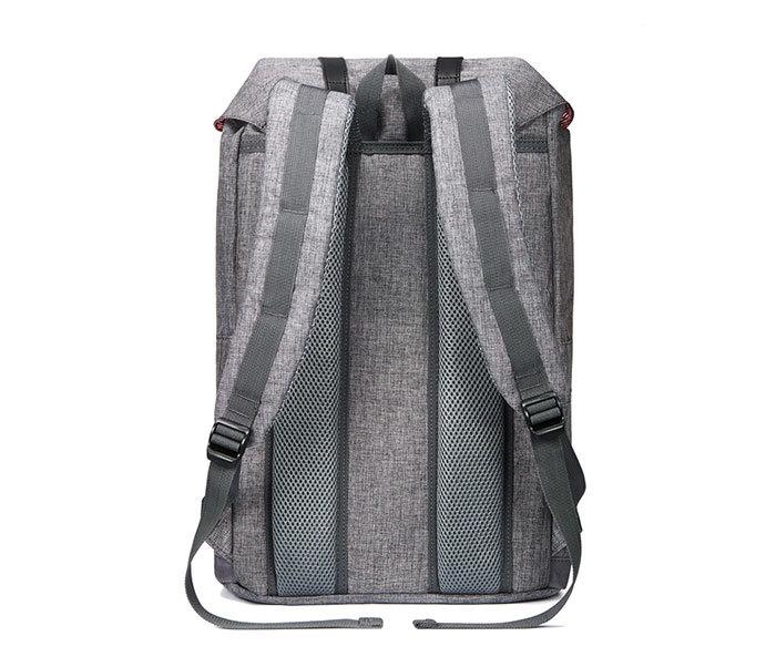 BAG404-3 Стильный мужской городской рюкзак из ткани серого цвета фото 10