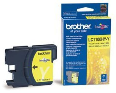 Brother LC1100HYY желтый картридж увеличенной емкости. Ресурс 750 стр. Для DCP-6690CW