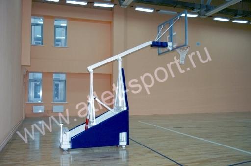 13b9253b Стойка баскетбольная игровая мобильная складная, вынос 1,65м. «ATLET 165».