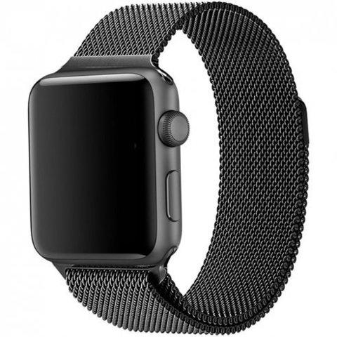 Миланское плетение для Apple Watch 42/44mm Black