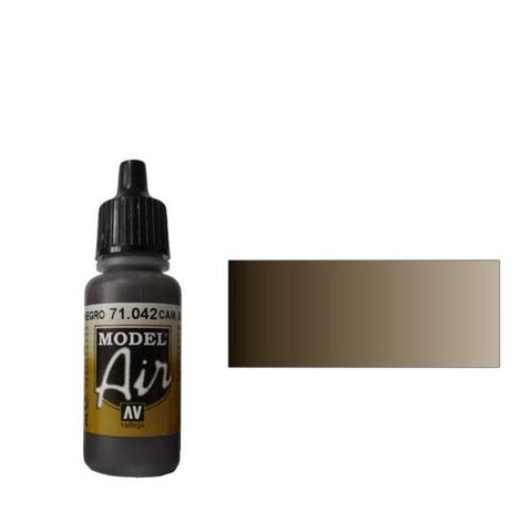 042 Краска Model Air Комуфляжный черно-коричневый (Cam. Black-Brown) укрывистый, 17мл