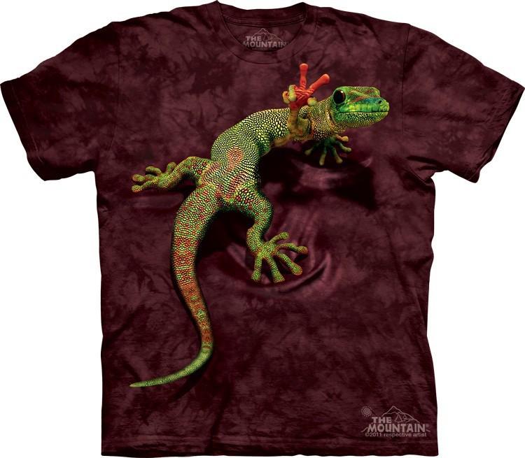 Футболка Mountain с изображением геккона - Peace Out Gecko