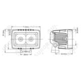 Светодиодная LED фара дальнего света 10 Вт Аврора фото-1