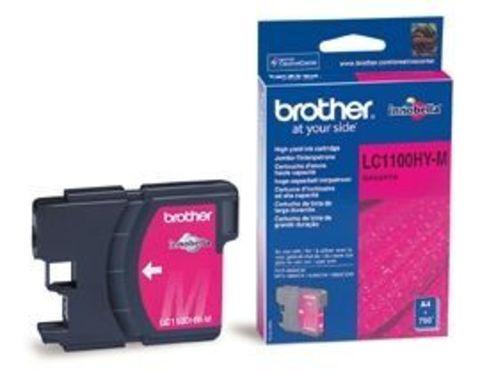 Brother LC1100M малиновый картридж для принтеров Brother DCP-185C/385C, FC-490C/6890CN/990CW. Ресурс 325 стр. (5% заполнение)