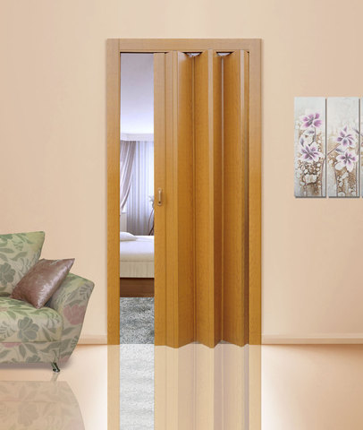 Двери гармошка без витражей
