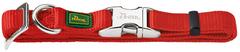 Ошейник для собак, Hunter ALU-Strong L (45-65 см), нейлон с металлической застежкой, красный