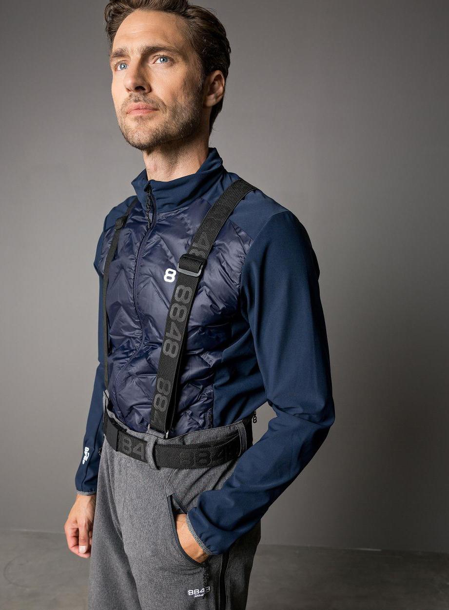 60f50012 Элитный горнолыжный костюм 8848 Altitude Dimon Jacket Venture Black-Grey  Melange 18 мужской