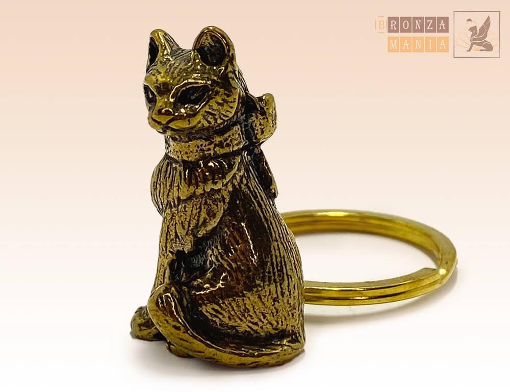 брелок Кошка с бантиком - купить в интернет магазине
