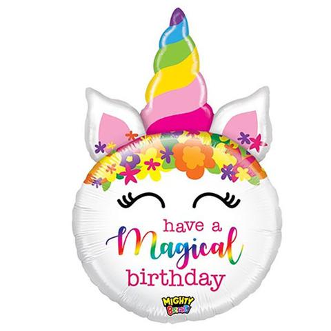 Воздушный шар Голова Единорога Have Magical Birthday, 84 см
