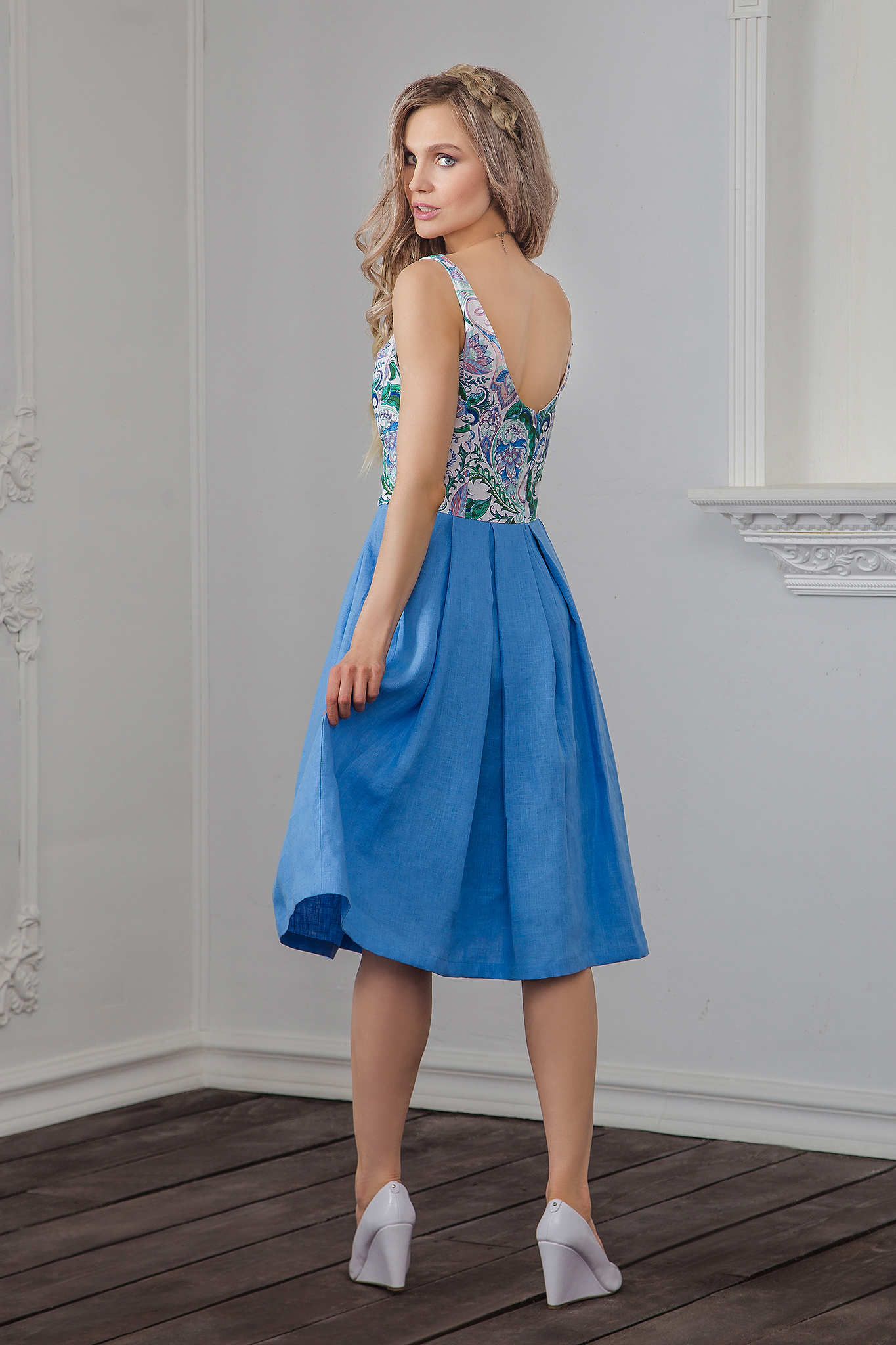 Вид сзади Платье современное Иванка