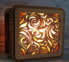 Солевая лампа Листья 2-2,5кг