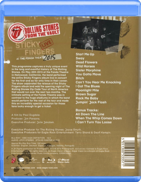 The Rolling Stones Quot Sticky Fingers Live At The Fonda