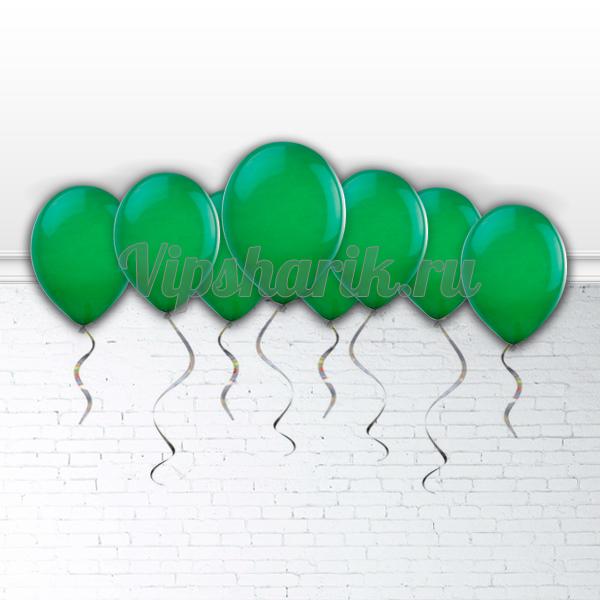 Шары под потолок Зелёные 30 см.