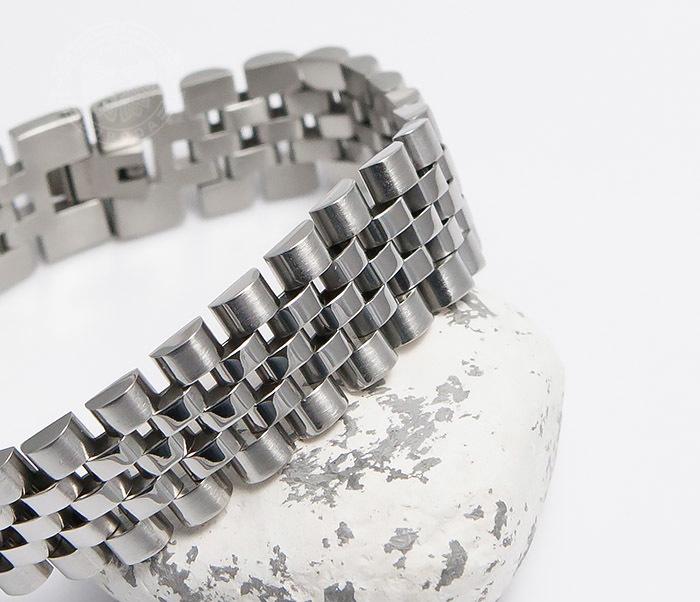 BM466 Широкий мужской браслет из стали на застежке (19 см) фото 06