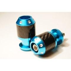 Слайдеры на маятник мотоцикла с карбоновыми вставками, 30х55 мм Голубой