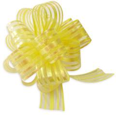 Бант-шар органза с перламутровой полосой 30х110 (желтый)