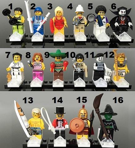 Minifigures Blocks Building Series 01