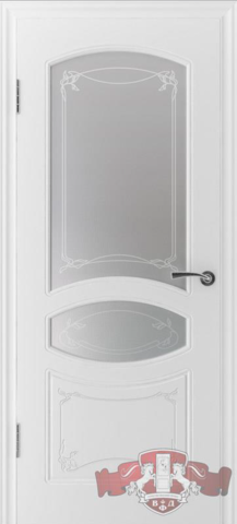 Дверь Владимирская фабрика дверей Версаль 13ДР0, цвет белая эмаль, остекленная