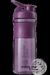 BlenderBottle SportMixer, Универсальная Спортивная бутылка-шейкер с венчиком.  Plum-сливовый 828 мл cat