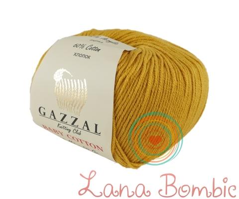 Пряжа Gazzal Baby Cotton 3447 горчица