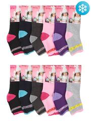 C1006-1 носки детские утепленные, цветные (12шт.)
